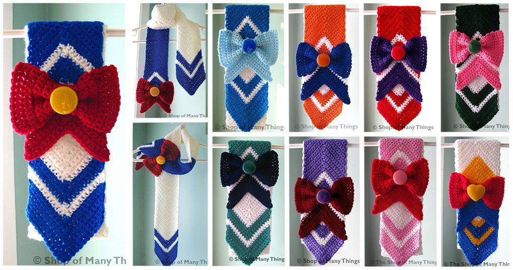Sailor Moon Scarf Crochet Crochet Pinterest Crochet Crochet