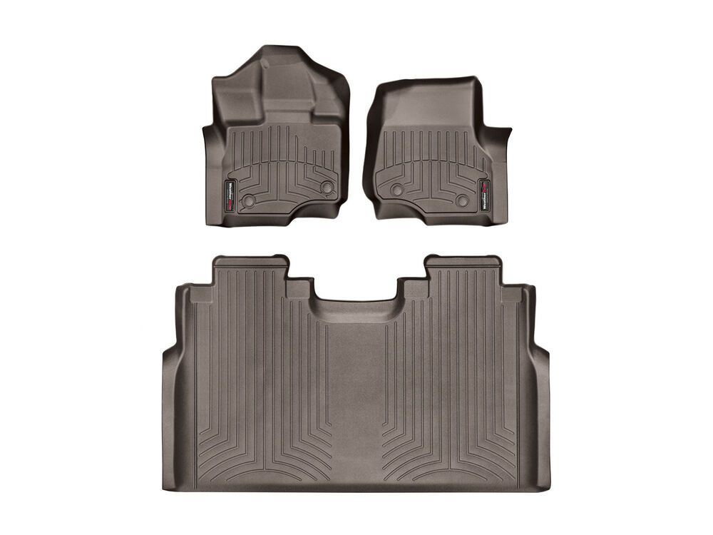 Ebay Sponsored Weathertech Floorliner For Ford F 150 Supercrew W Front Bench 2015 2019 Cocoa Weather Tech Ford F150 Floor Liners