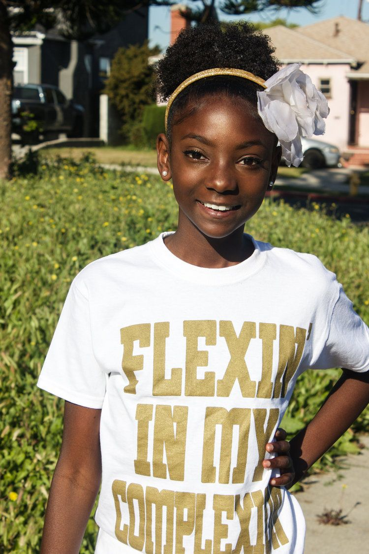 19d5cd2928 Flexin' In My Complexion Tee: White & Gold | Valentine's Day Gifts ...