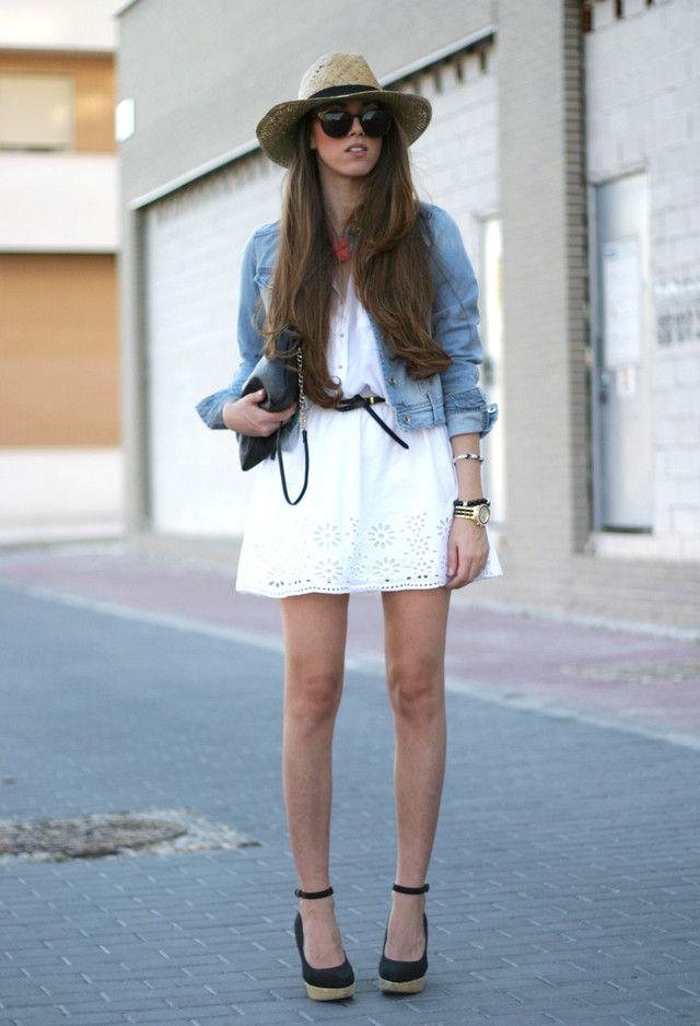 d5ca952a2  roressclothes closet ideas  women fashion White Dress and Black Wedges