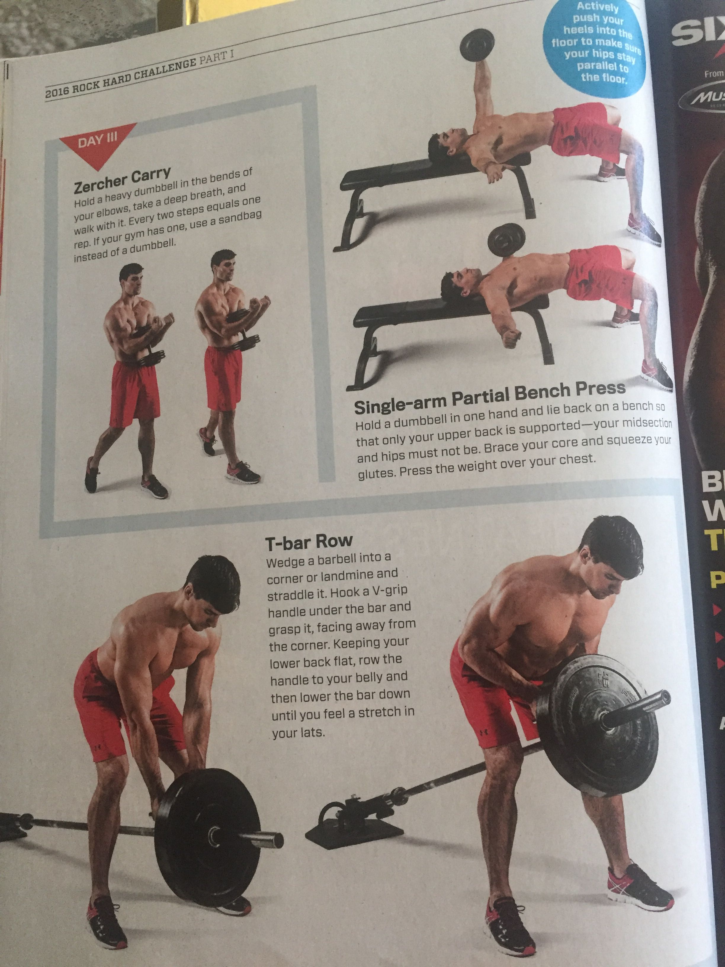 Muscle Fitness Bench Press Dumbbell Challenges