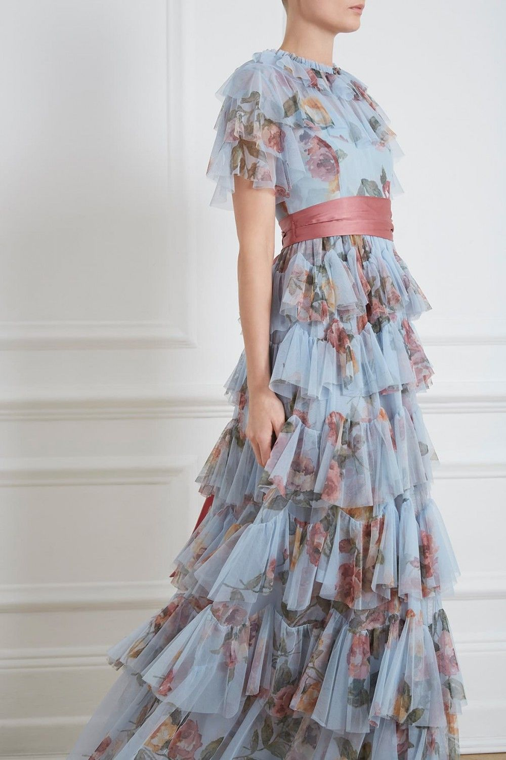 ad36920a84 Venetian Rose Tulle Gown in Dusk Blue from the Needle & Thread PS19  Collection