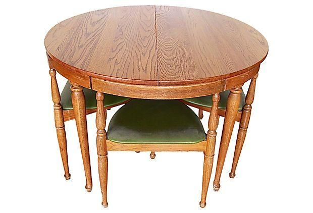 A 1960s Walter Wabash Dining Table With Chairs This Vintage