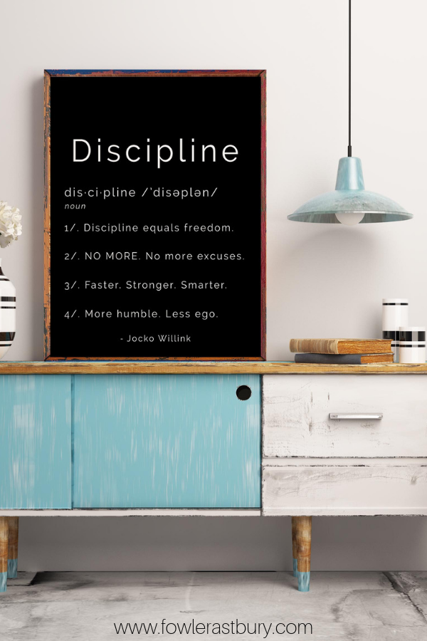 Jocko Willink Discipline Art Print Inspirational Dictionary Etsy Quote Prints Inspirational Prints Motivational Art Prints