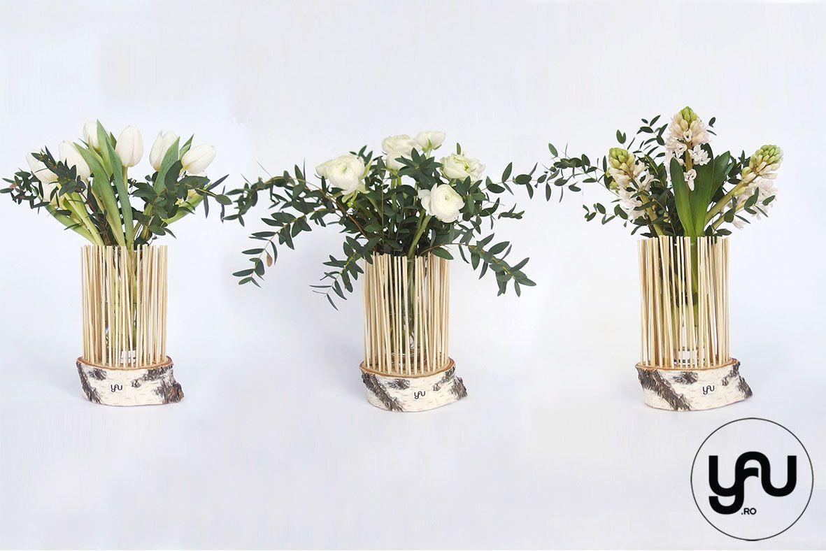 Flori De Primavara Pentru Martisor Floral Glass Vase Decor