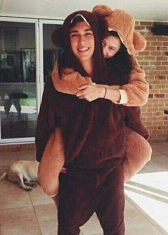 091c230d83 pajamas onesie bear couple bear onsie