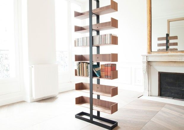 Severin Bookshelf By French Designer Alex De Rouvray   I Hope There Are Two  Vertical Screws Design Inspirations