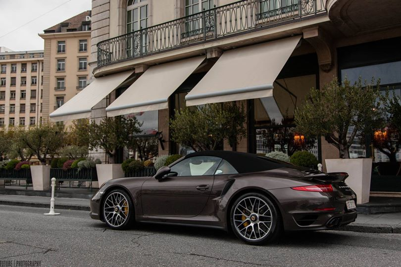Porsche 911 (991) Turbo S Convertible, photographed by Florent Poncelet