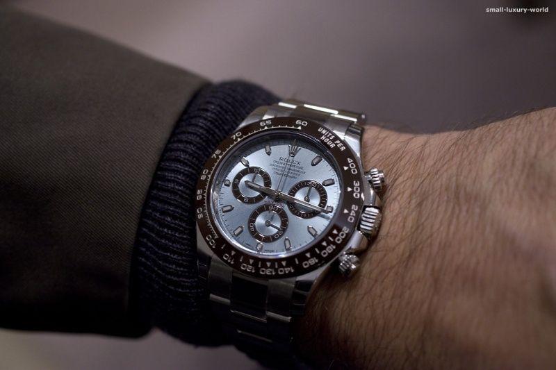 Rolex , Rolex Cosmograph Daytona in platinum \u2013 on the wrist