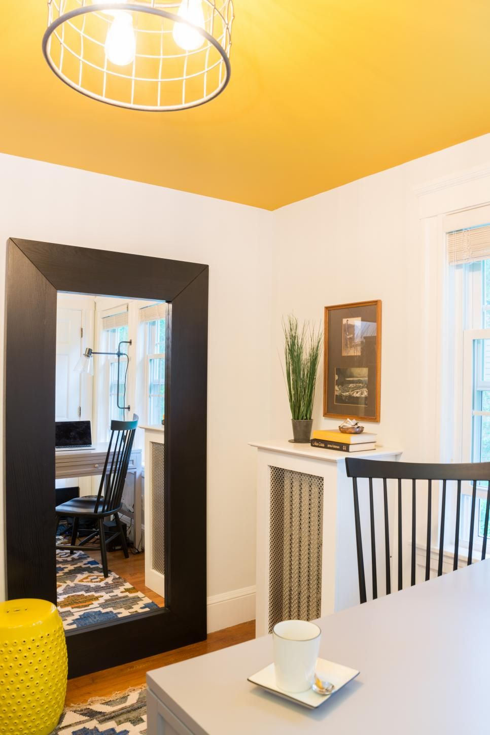 15 Ways To Decorate With Goldenrod Yellow Color Palette And Schemes For Rooms In Your Home Hgtv Yellow Bedroom Walls Yellow Painted Rooms Colored Ceiling
