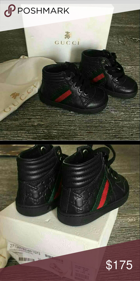 4e8b75d53e8 Gucci hi top sneakers Gucci Kids shoes MicroGuccissima baby / Toddler Leather  high-top sneakers fits about (9-18mo) Gucci Shoes Sneakers
