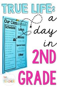 """A look at a second grade schedule. Perfect post to answer the question, """"What do…"""