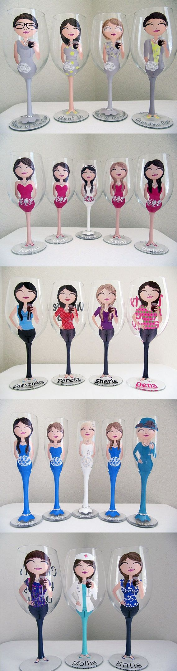 How to make wine glasses personalized