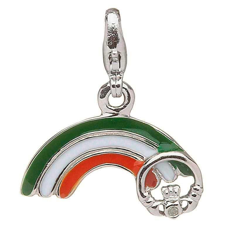 Silver Rainbow Diamond Charm