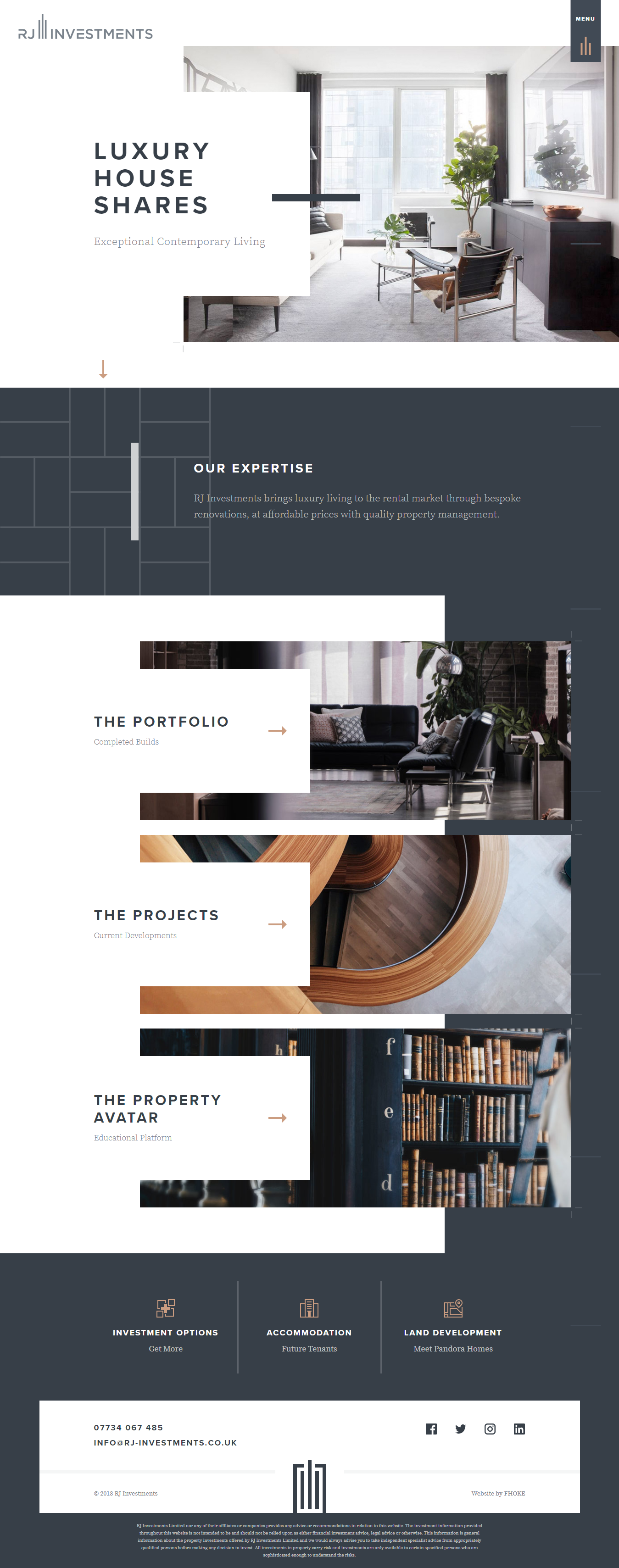 Website For Property Investors Clean And Sophisticated Layout Website Design Layout Website Layout Inspiration Web Layout Design