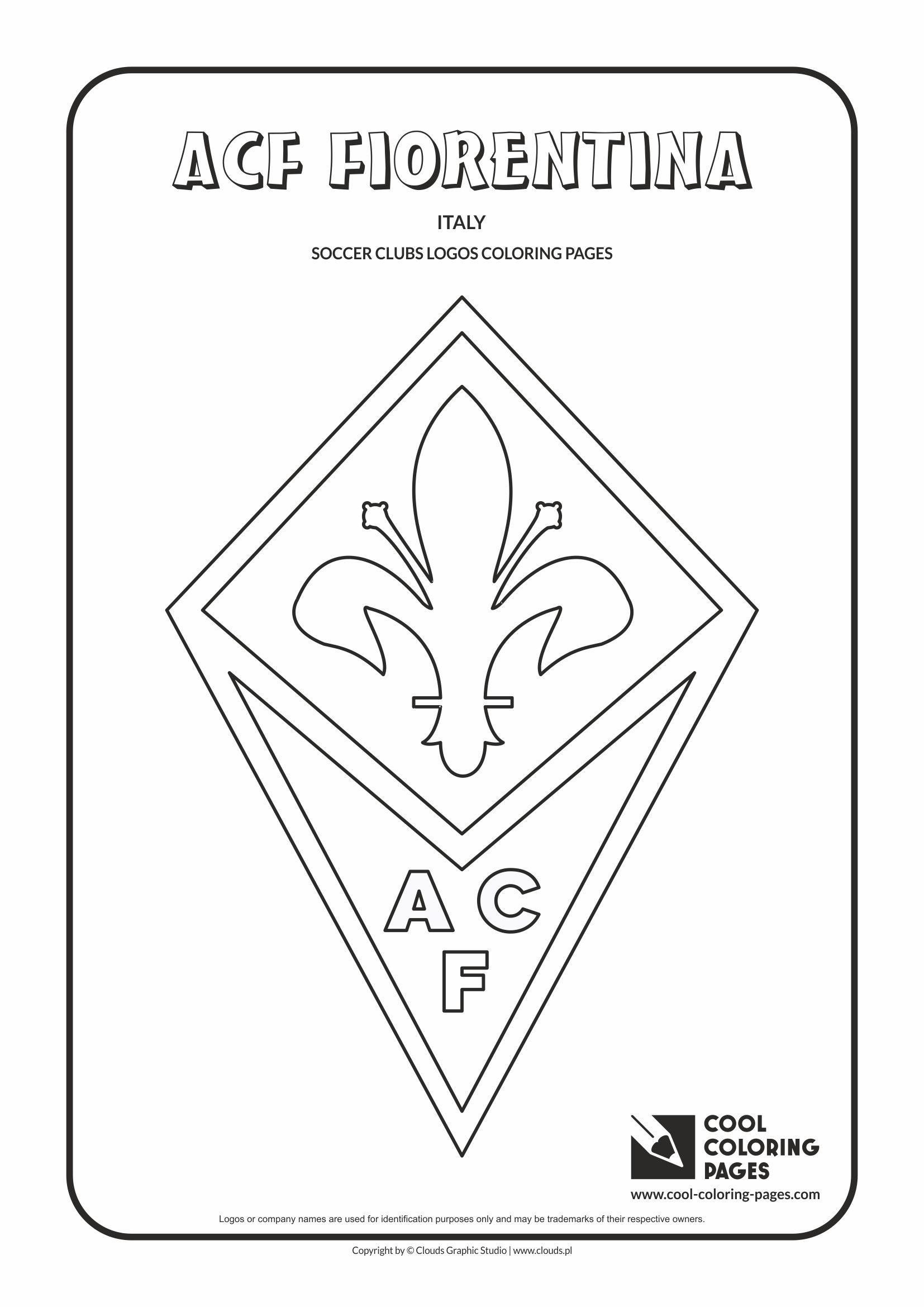 Ausmalbilder Fußball Zeichen : Acf Fiorentina Logo Coloring Coloring Page With Acf Fiorentina