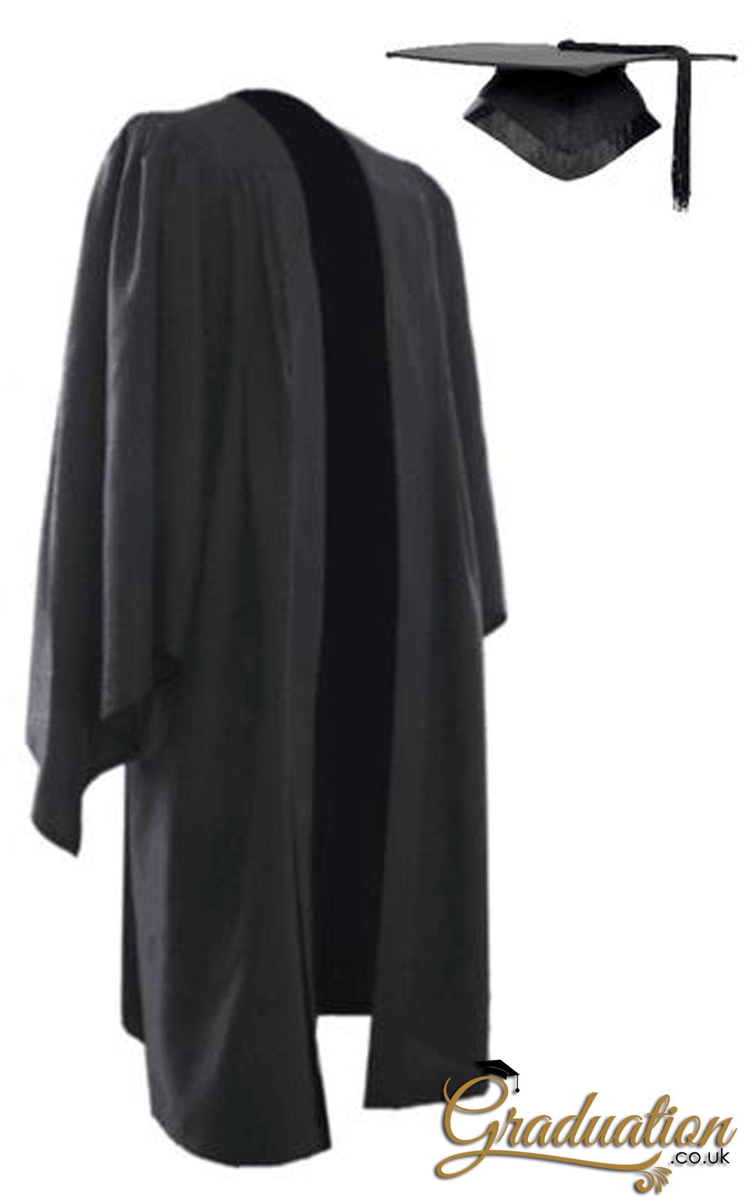 All Sizes Deluxe Black Bachelors University Graduation Cap /& Gown Set Unisex