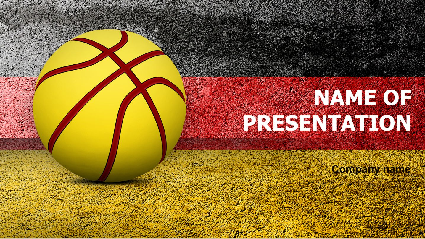 Germany Basketball Ball Powerpoint Presentation Template This