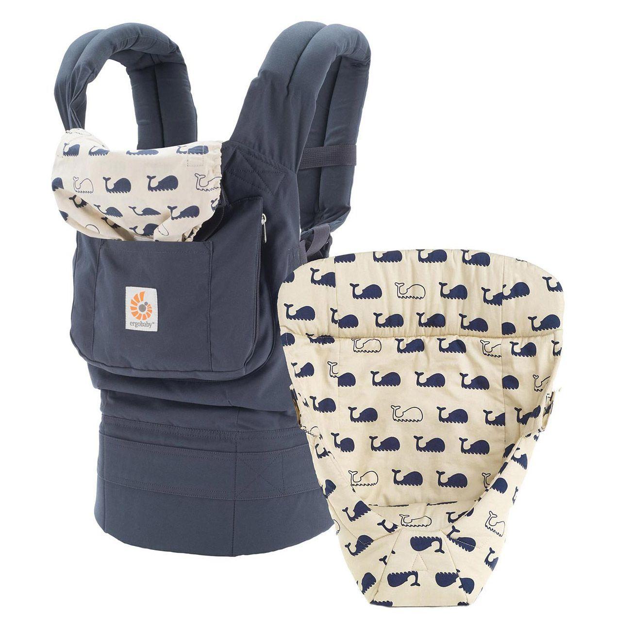 efc56eedbbd Ergobaby Original Baby Carrier - Bundle of Joy with Easy Snug Infant Insert  - Marine
