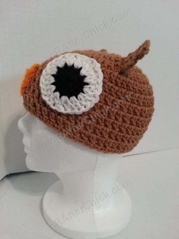 Hootie the Wise Owl Beanie Hat Crochet Pattern Left Side View ...