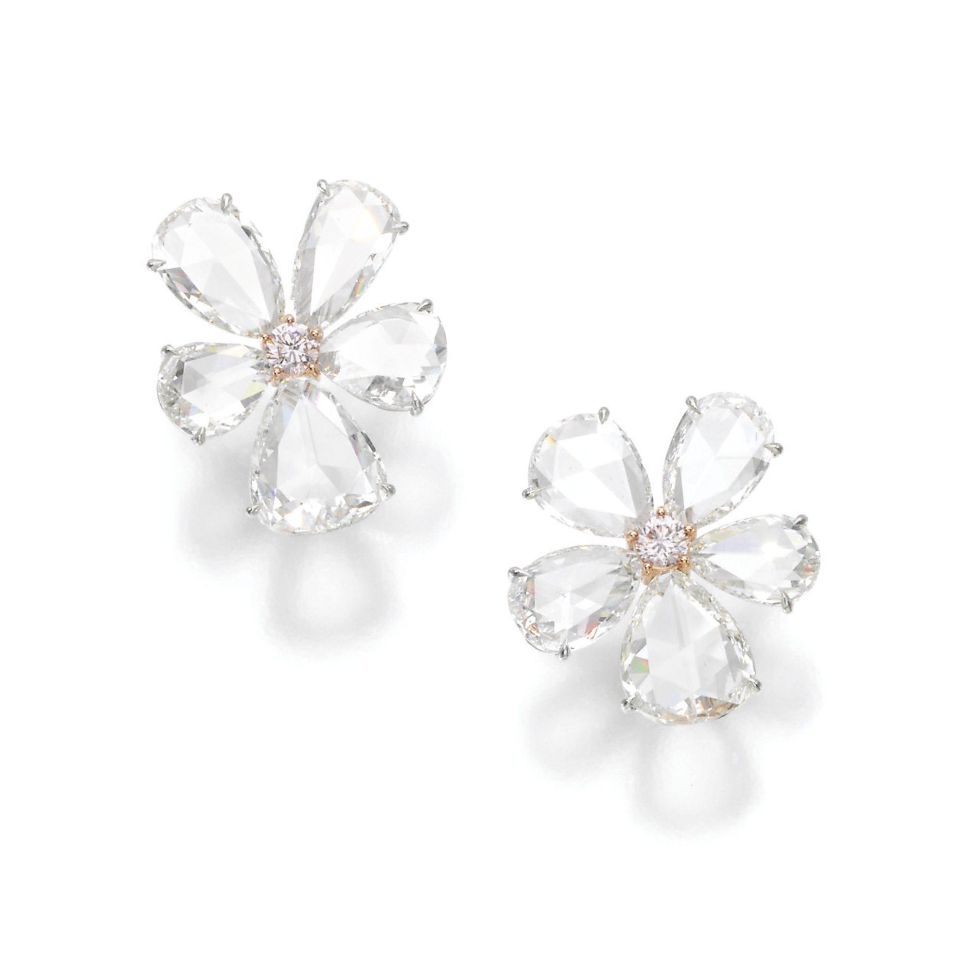 Pair Of Diamond Earrings Lot Sotheby S Fine Jewels Jewelry Auction Earrings