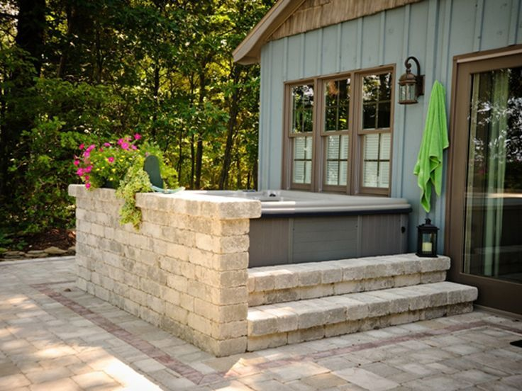 Backyard Patio Ideas Hot Tub Tubs Landscaping