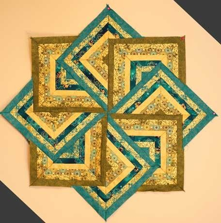 Sew Easy Strata Star Table Topper Pattern at Creative Quilt Kits ... : easy quilt kits - Adamdwight.com