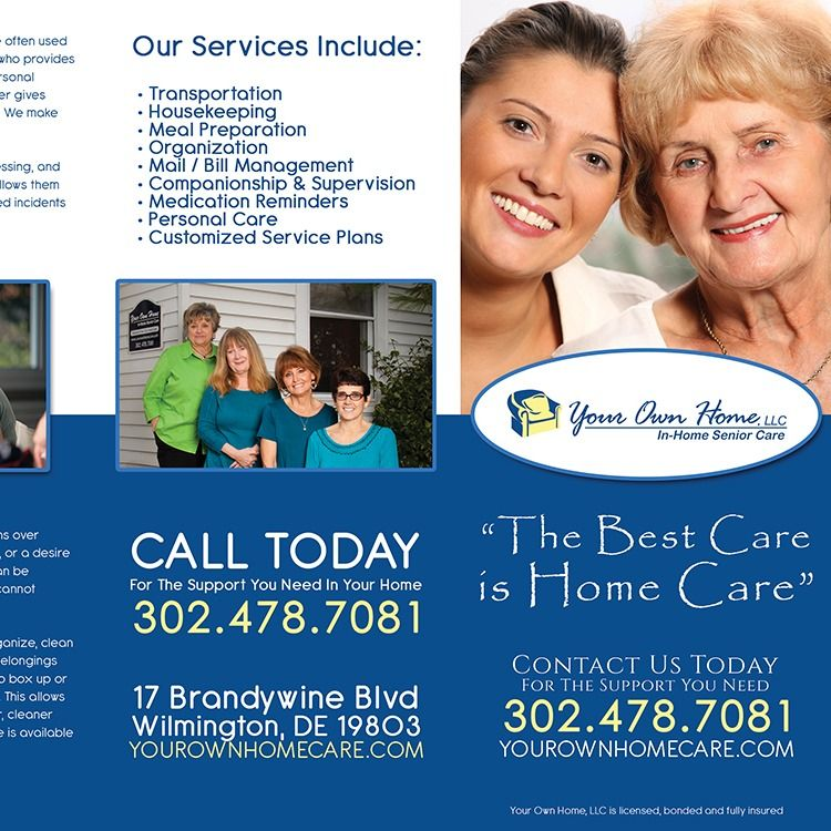 Brochure Design That We Created For A Home Healthcare