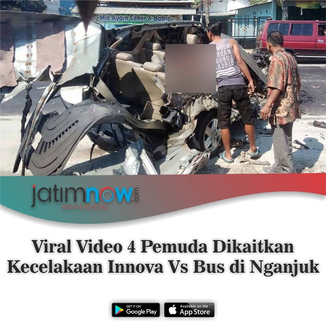 Sebuah Video Empat Pemuda Di Dalam Mobil Beredar Di Media Sosial Video Itu Dikaitkan Dengan Para Penumpang Mobil Toyota Innova Yang Terlibat Kecelakaan Dengan