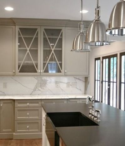 Taupe kitchen cabinets google search does this match the for Samples of painted kitchen cabinets