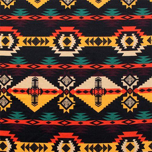 Native Fabric Prints Navajo Arrow Desert Tribal Ponte De Roma Fabric  Soft Ponte De .