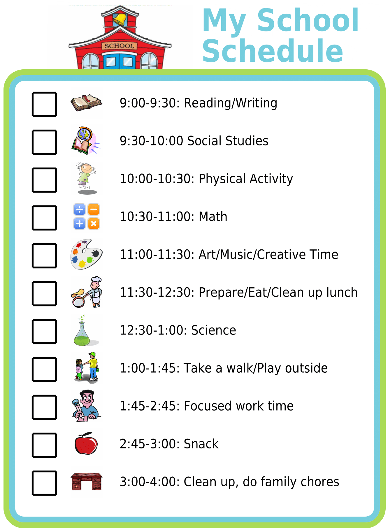 Photo of Free Printable – My School Schedule
