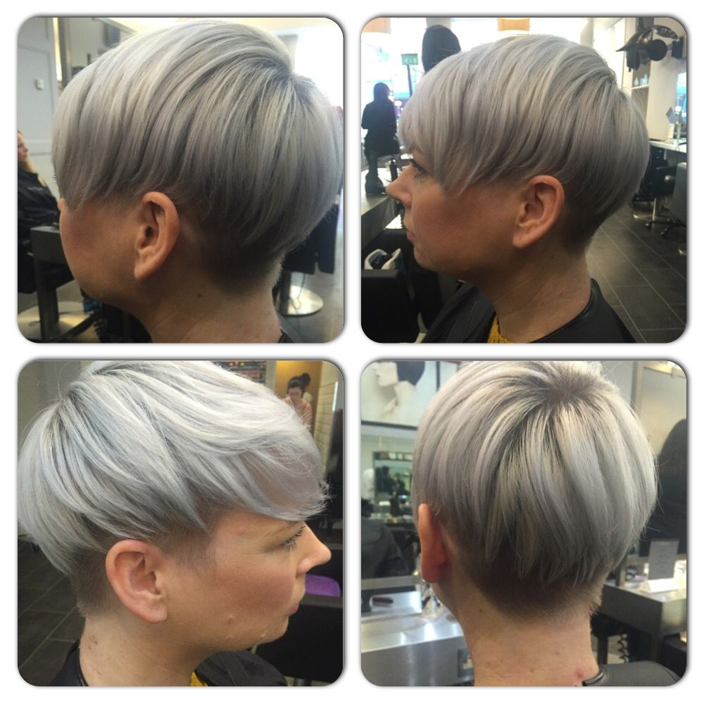 Icy Silver Blonde Undercut Hairstyle Hair Pinterest Undercut