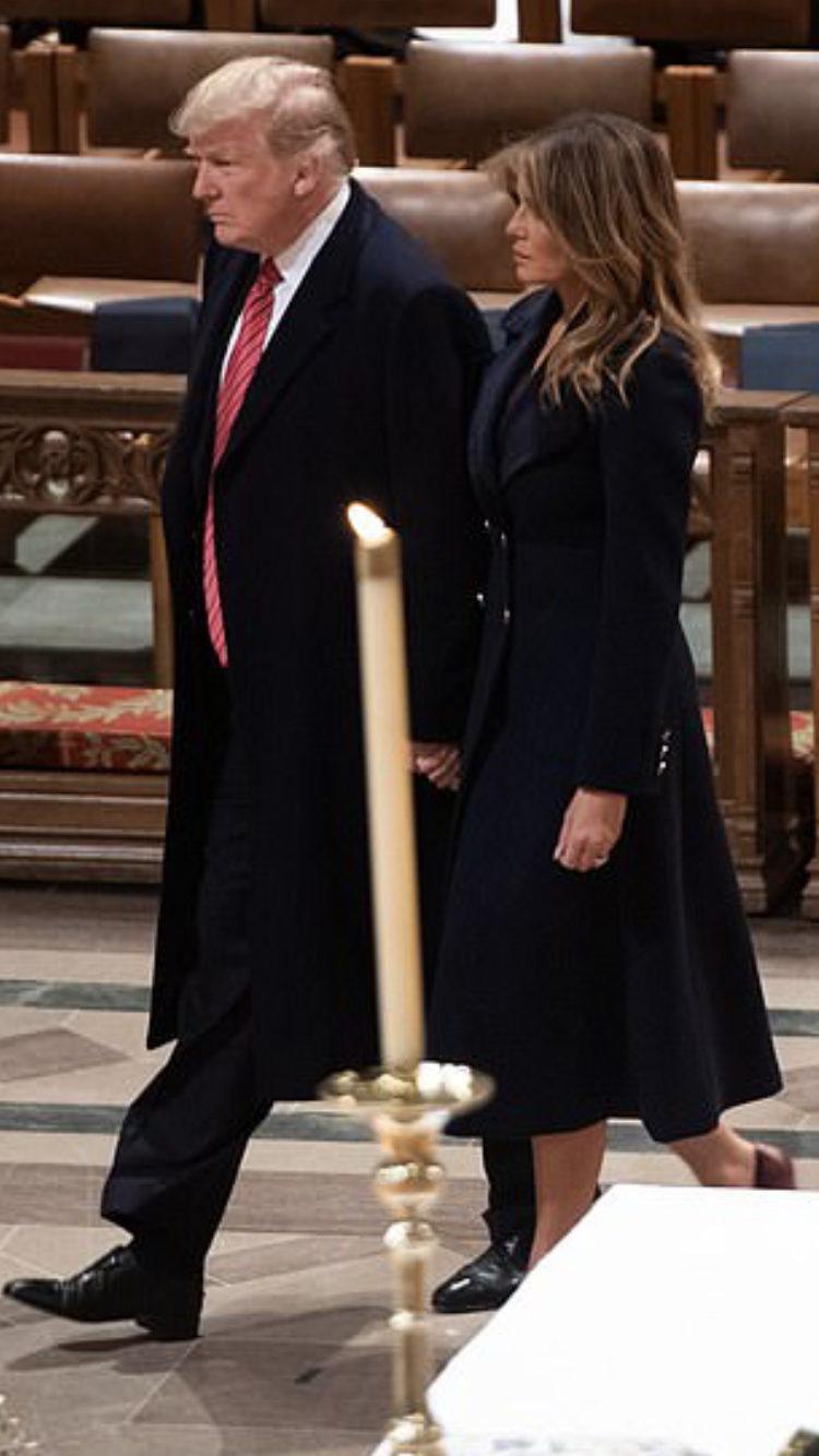 National Cathedral Christmas 2019 President & First Lady Melania Trump, Christmas Eve Service 2018