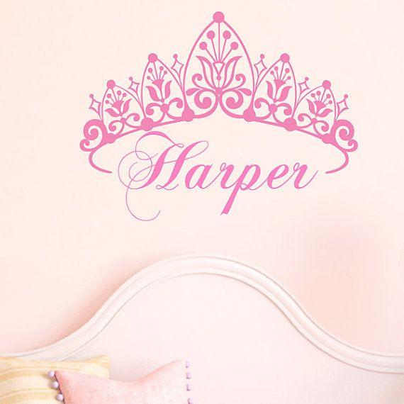princess tiara crown removable wall decal sticker by madebyjoss rh pinterest com princess tiara tattoo pictures princess tiara tattoo designs
