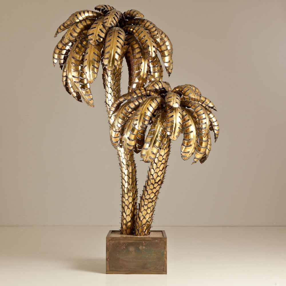 Golden Palm Trees In 2019 Tree Floor Lamp Tree Lamp