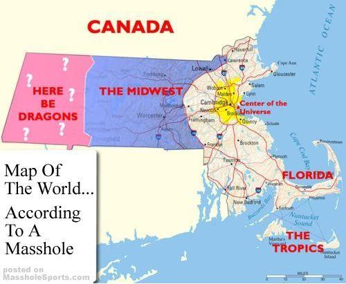 4 The World According To A Masshole Maps Map Boston