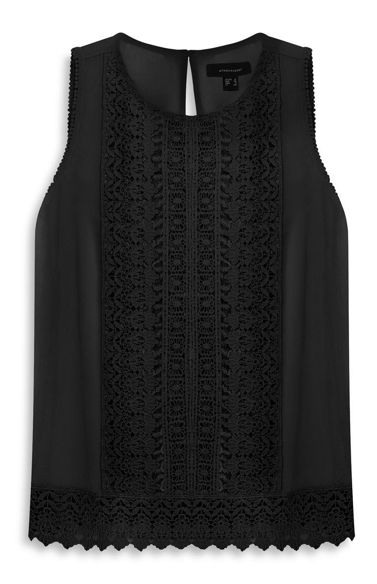Primark - Top rendado com riscas preto - 13€   blusa. chaquetas ... 0c042b6c51