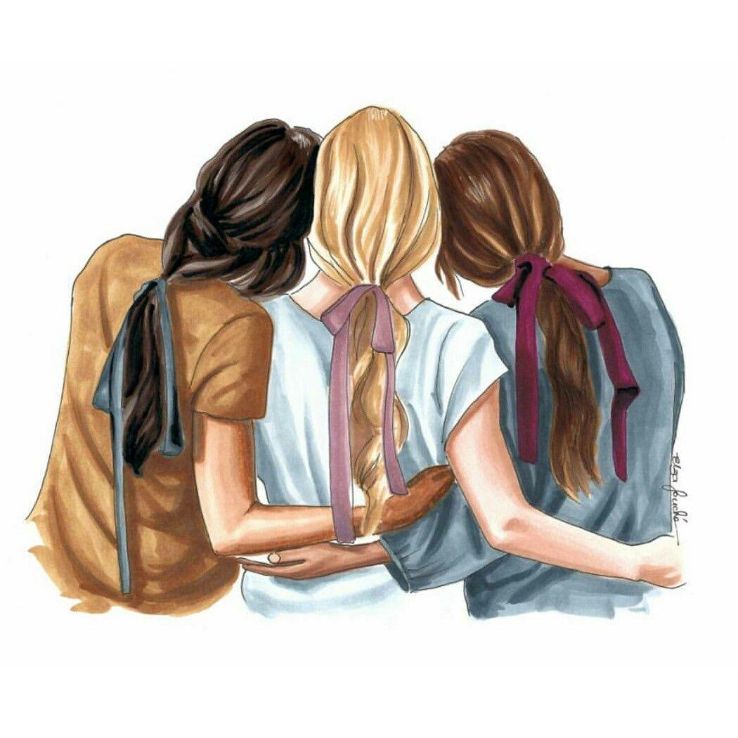 Pin By Giuseppina Sabatino On I Aɽե Illustrations Bff Drawings Drawings Of Friends Sisters Drawing