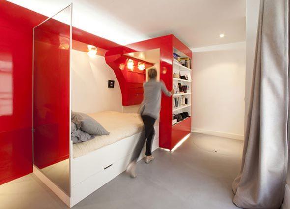 Red Nest Coudamydesign Amenagement Petit Appartement