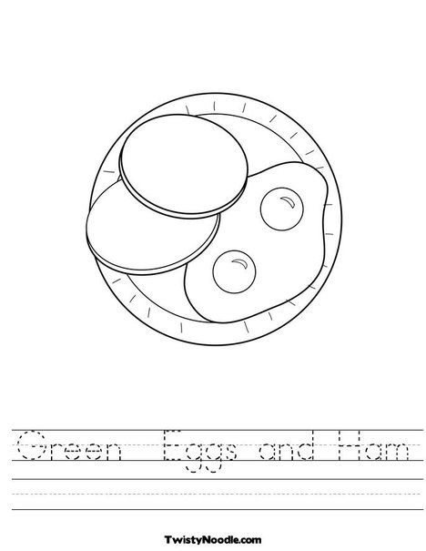 Green Eggs And Ham Worksheet From TwistyNoodle