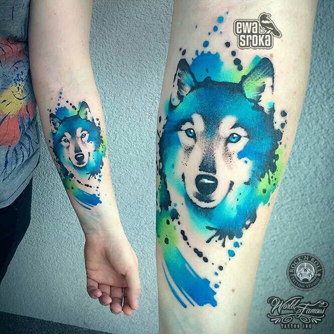 Awesome Wolf Tattoo From Ewa Sroka Tattoos Zwierzęta
