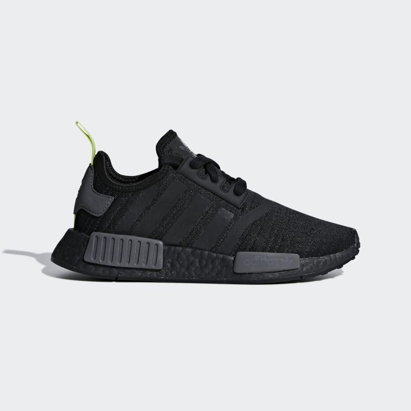4c23da9ce22f95 NMD_R1 J Black F35839 Black Nmd, J Black, Black Adidas Shoes, Black Shoes