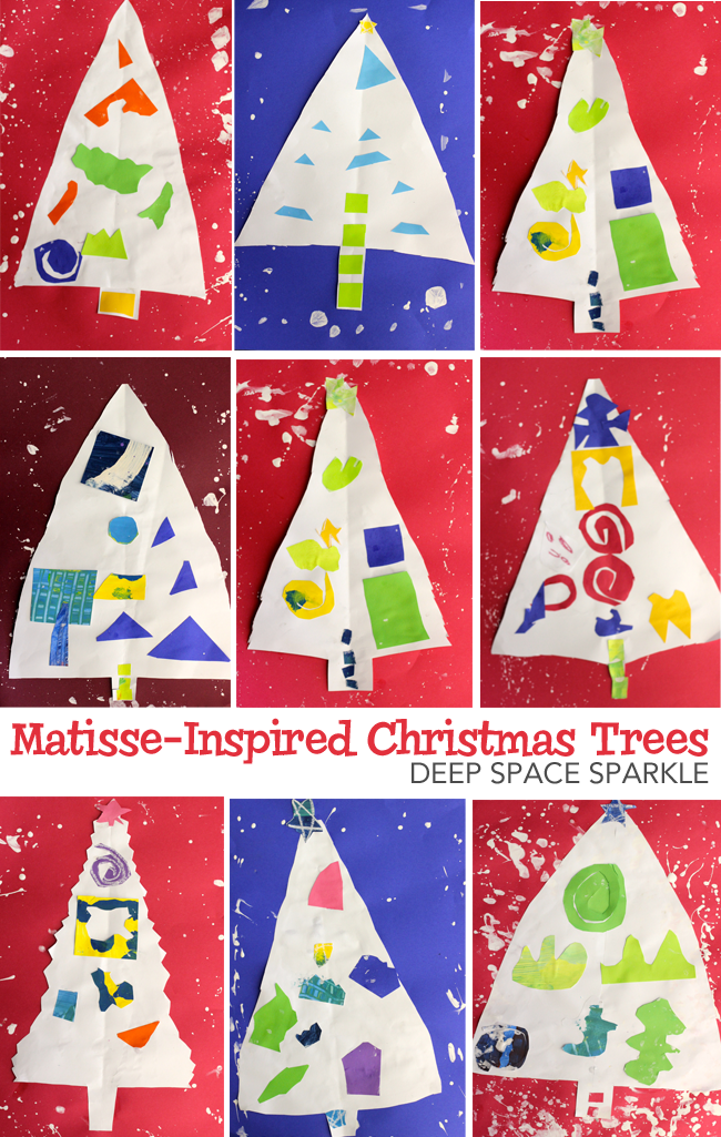 Matisse Inspired Christmas Tree Deep Space Sparkle Christmas Art Projects Christmas Art Kids Art Projects