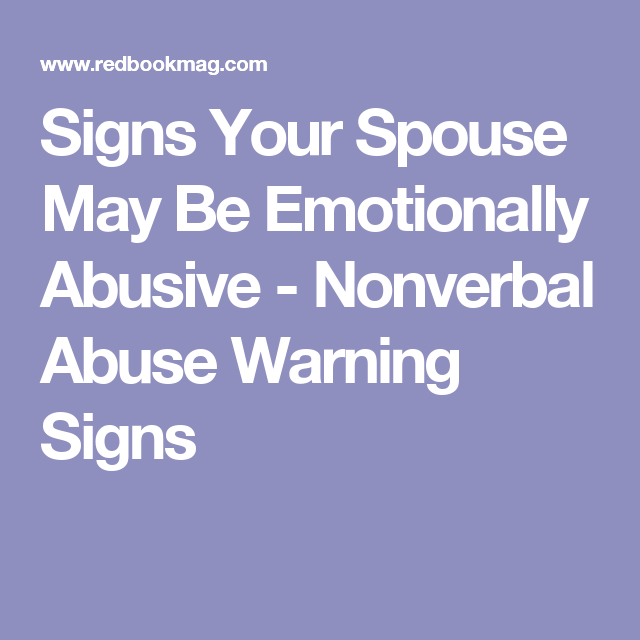 Subtle signs of emotional abuse