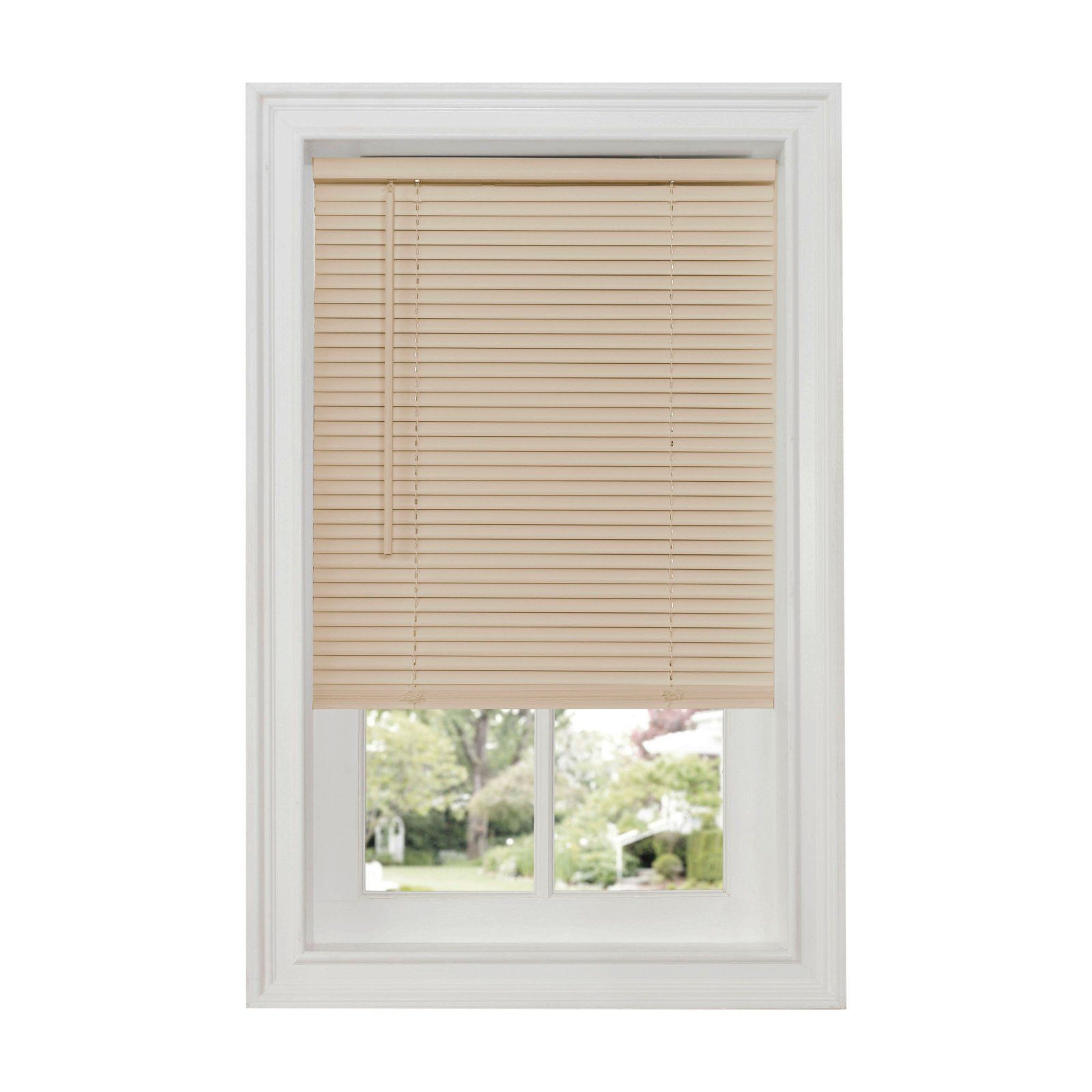 Achim 1 In Gii Deluxe Sundown Room Darkening Cordless Vinyl Mini Blinds Alabaster Mini Blinds Horizontal Blinds Vinyl Mini Blinds