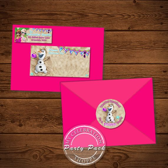 Frozen Address Labels and Envelope Seal, Frozen Labels, Frozen Party Pack, Frozen, Frozen Envelope Seals, Frozen Printables, Elsa Labels