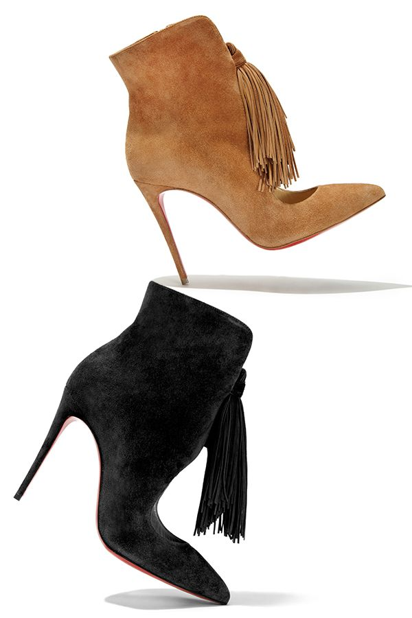 The must-have for resort 2016, these #ChristianLouboutin fringed suede booties #LouboutinxSaks