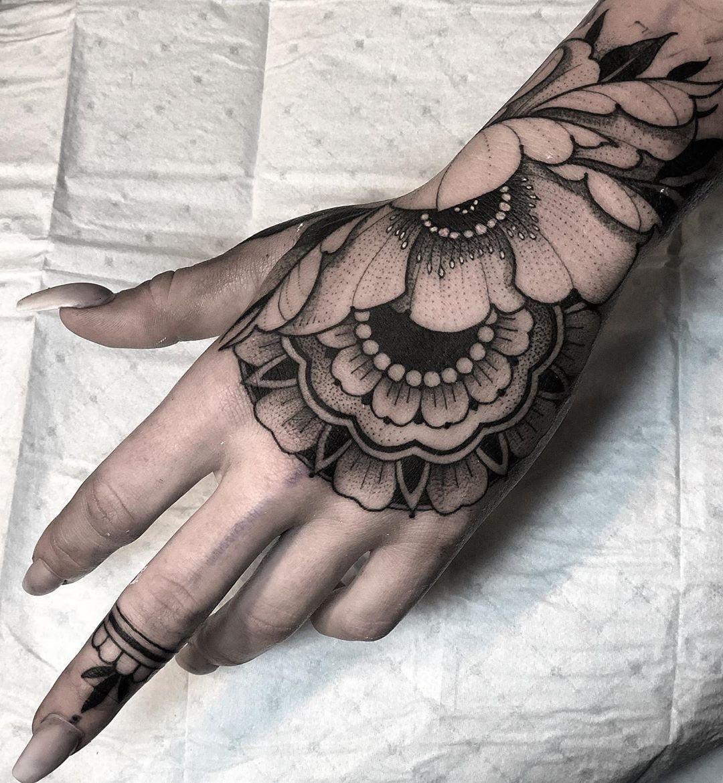 Jaycee Wallingford Hand Tattoos For Women Mandala Hand Tattoos Tattoos