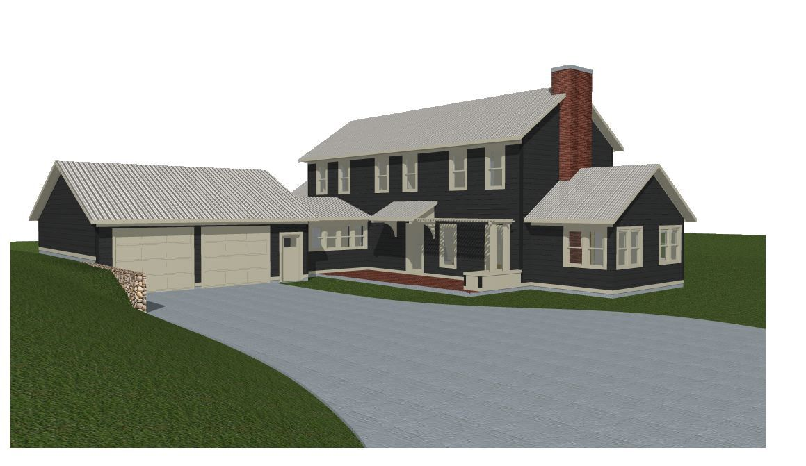 Scheme A Dark Siding Cream Trim Cream Windows Grey